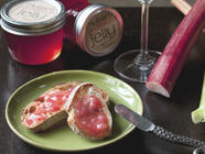 Rhubarb Prosecco Jelly
