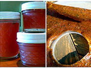 Rhubarb Rosemary Jelly & Leather found on PunkDomestics.com