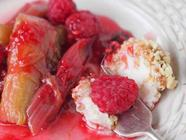 Homemade Labneh with Rhubarb and Raspberries