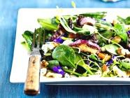 Baby Spinach Salad with Violets