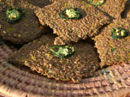 Spicy Flax Crackers found on PunkDomestics.com