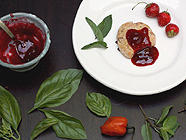 Strawberry Jam with Mint, Basil & Habañero