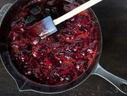 simple strawberry skillet jam found on PunkDomestics.com