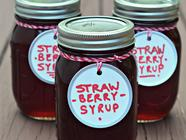 Strawberry Vanilla Syrup found on PunkDomestics.com