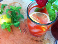 Strawberry Vodka & Strawberry Vodka Lemonade found on PunkDomestics.com