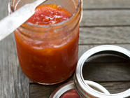 Spicy Tomato Peach Jam found on PunkDomestics.com