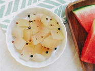 Fermented Watermelon Rind Pickles found on PunkDomestics.com