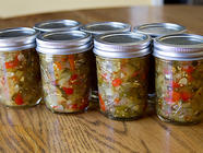 Sweet & Spicy Zucchini Relish found on PunkDomestics.com