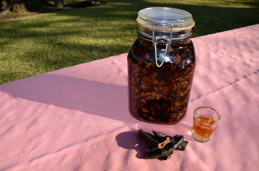 Steep carob pods in rum for a complex liqueur with notes of coffee, caramel and vanilla., found on PunkDomestics.com