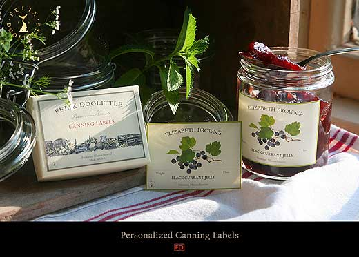 Win a set of personalized jar labels from Felix Doolittle, found on punkdomestics.com