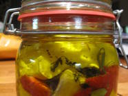 Garden in a Jar: Cheese Preserved in Oil found on PunkDomestics.com