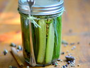 Quick & Spicy Refrigerator Pickles found on PunkDomestics.com