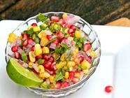 Corn and Pomegranate Salsa found on PunkDomestics.com