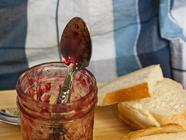 Cherry Rhubarb Jam found on PunkDomestics.com
