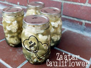Za'atar Pickled Cauliflower found on PunkDomestics.com