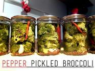 Pepper Pickled Broccoli found on PunkDomestics.com