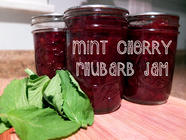 Mint Cherry Rhubarb Jam found on PunkDomestics.com