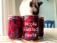 Maple Pickled Beets found on PunkDomestics.com