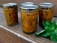 Peach Jam with Caramelized Onions & Basil found on PunkDomestics.com
