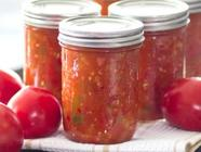 Homemade Canned Tomato Salsa found on PunkDomestics.com