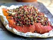 Smoked Salmon with Peppercorns and Honey found on PunkDomestics.com