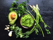 Cilantro-Parsley-Avocado Dip found on PunkDomestics.com