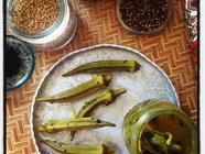 Pickled Okra with Indian Spices and Honey found on PunkDomestics.com