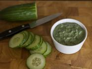 Creamy Nettles Dip w/ Roasted Garlic & Mint found on PunkDomestics.com