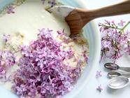 Lilac Scones with Rhubarb Curd found on PunkDomestics.com