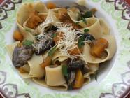 Wild Boletus Mushroom and Pumpkin Pappardelle found on PunkDomestics.com