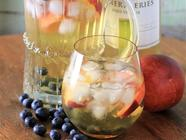 Peach Blueberry Sangria found on PunkDomestics.com