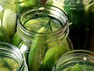 Crisp Garlic Dill Pickles  found on PunkDomestics.com