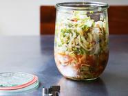 Quick Fennel and Cabbage Kimchi found on PunkDomestics.com
