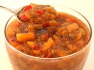 Spiced Fresh Peach Chutney found on PunkDomestics.com