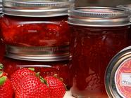 "Low-Sugar ""Strawberries & Cream"" Jam found on PunkDomestics.com"