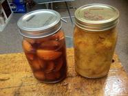 Apricot Infused Brandy and Peach Pit Vodka found on PunkDomestics.com