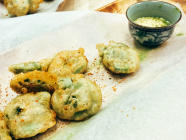 Battered Fiddleheads Recipe with Kimchi Mayo found on PunkDomestics.com