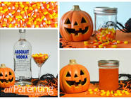 Candy Corn Infused Vodka found on PunkDomestics.com