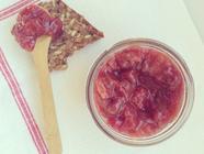 Cherry Rhubarb Jam with Ginger & Honey found on PunkDomestics.com
