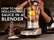 How to Make Hollandaise in a Blender found on PunkDomestics.com