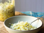 Easy Homemade Sauerkraut found on PunkDomestics.com