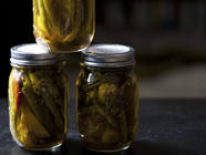Indian-Spiced Pickled Green Beans found on PunkDomestics.com