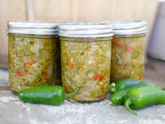 Zesty Pickled Jalapeno Relish found on PunkDomestics.com