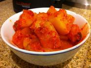 Spicy Radish Kimchi (Kkagdugi) found on PunkDomestics.com