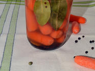 Lemony Pickled Carrots found on PunkDomestics.com