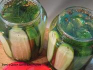 Quick Garlic Dill Pickles found on PunkDomestics.com