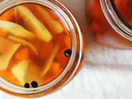 Maple Ginger Pickled Carrots found on PunkDomestics.com