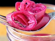 Pink Pickled Banana Peppers found on PunkDomestics.com