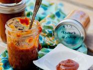 Homemade Rhubarb Ketchup found on PunkDomestics.com