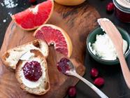 Salted Cranberry Grapefruit Jam found on PunkDomestics.com